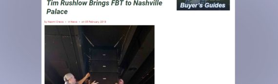 "FOH Online: ""Tim Rushlow Brings FBT to Nashville Palace"""